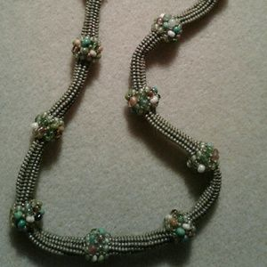 """Jewelry - """"Green with envy"""" beaded necklace"""